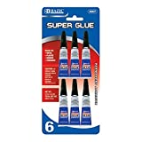 Bazic Products 2007-144 BAZIC 3g - 0.10 Oz. Super Glue - 6-Pack Case of 144
