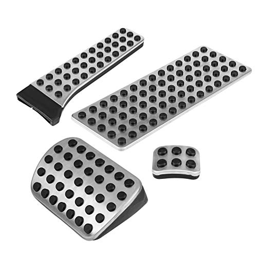 4PCS Nonslip Car Fuel Brake, Acouto Clutch Pedal Pads Cover for Mercedes Benz W203 W204 W210 W211 W212 CE