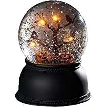 "5.5"" Jack O Lantern Dome With LED Tree 100mm Battery Operated Without Batteries by Roman"