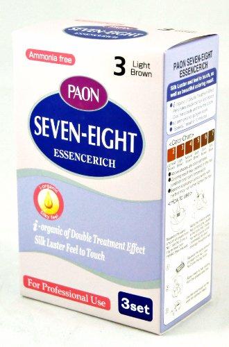 PAON Ammonia Free Seven-Eight EssenceRich 3 Set (3-Light Brown)