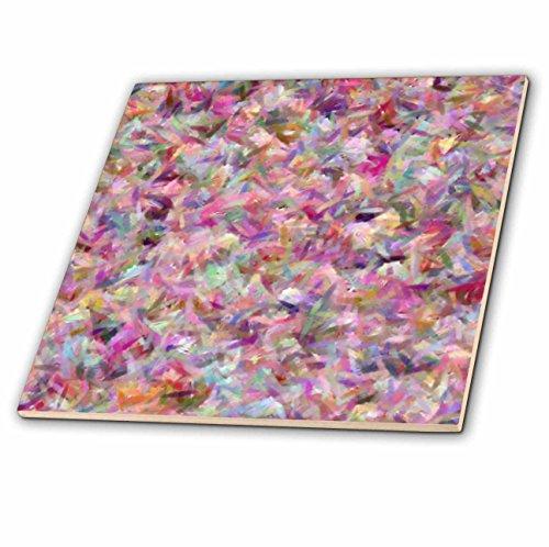 3dRose Lee Hiller Designs Impressionist - Iridescent Pink - 4 Inch Ceramic Tile (ct_9298_1)