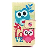 iPhone 6 Case, Premium Wallet Case with Credit Card Slot [PU Leather] Protective Cover [Anti Scratch] Ultra Slim Skin for Apple iPhone 6 with One Stylus + One Screen Protector -Two Owls