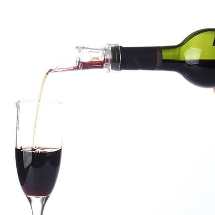 2 G Aireador de vino Decantador de vino Pourer para Whisky, Vino Tinto, Premium