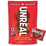 UNREAL Dark Chocolate Peanut Butter Cups | Vegan, Gluten Free, Less Sugar | 3 Bags -  Unreal Brands