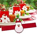 Gigamax(TM) 4pcs/set Christmas Santa Claus Napkin Rings Serviette Holders XMAS Christmas Party Dinner Table Decor Home Restaurant GI873677