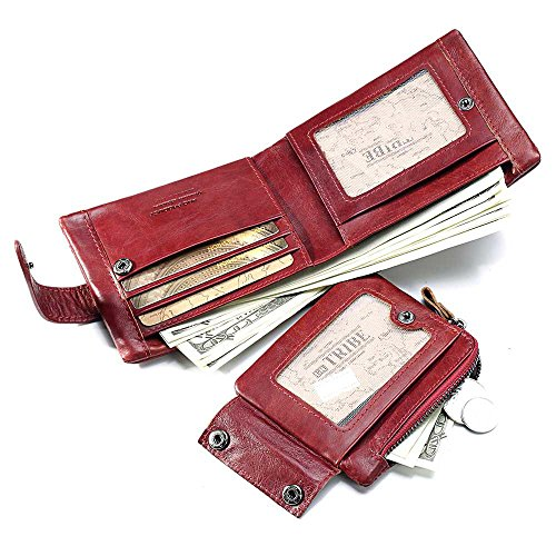 Zippers Short RFID Leather Wallet rabbit Blocking Wallet Genuine Women's Lovely Sqx8Rw6v