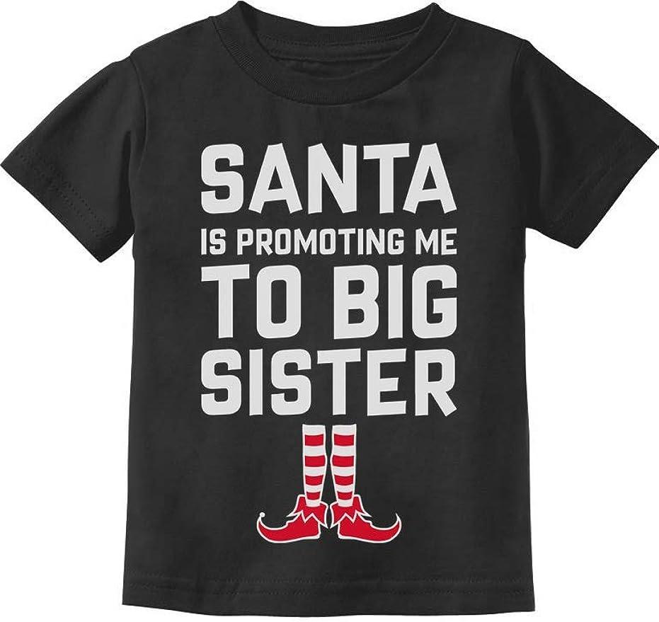 Tstars Santa is Promoting Me to Big Sister Christmas Promoted Toddler Hoodie