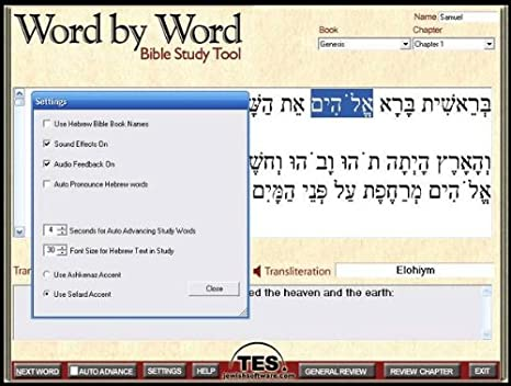 Amazon.com: Word By Word Book of Genesis- The Essential Bible ...