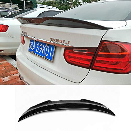 PSM Style Carbon Fiber Rear Trunk Deck Lip Boot Spoiler Wing For BMW 3 series F30 F80 M3 2012-2018