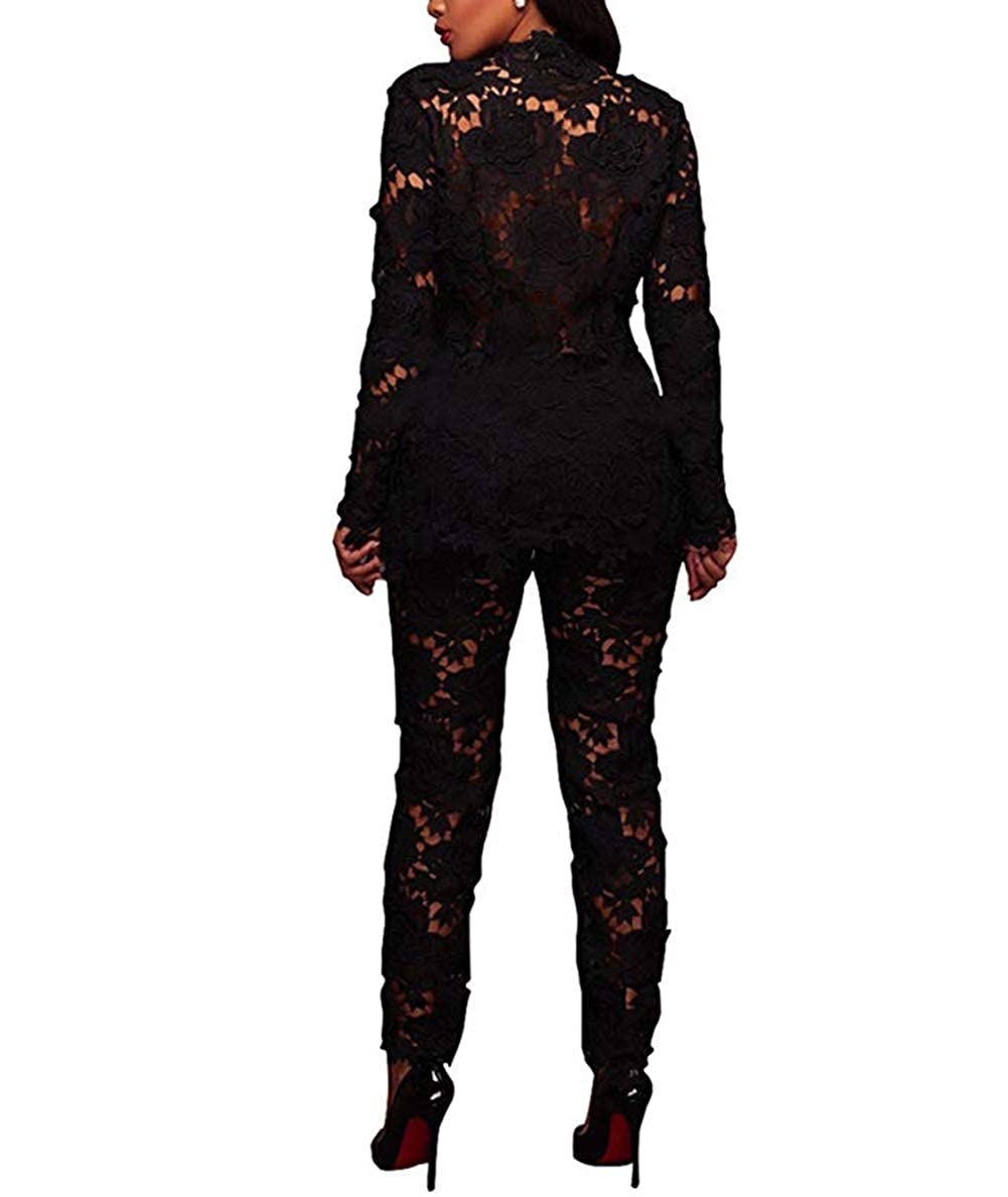 Amazon.com: IyMoo - Blazers de encaje para mujer – Blazer de ...