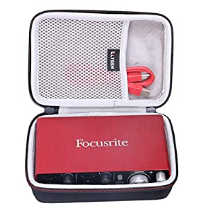 LTGEM Hard Travel Case for Focusrite Scarlett Solo & 2i2 (2nd Gen) USB Audio Interface