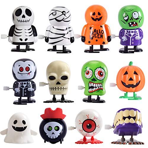 Halloween Goody Bags For Toddlers (Max Fun 12 pcs Halloween Wind Up Toy Assortment for Halloween Party Favors Goody Bag)