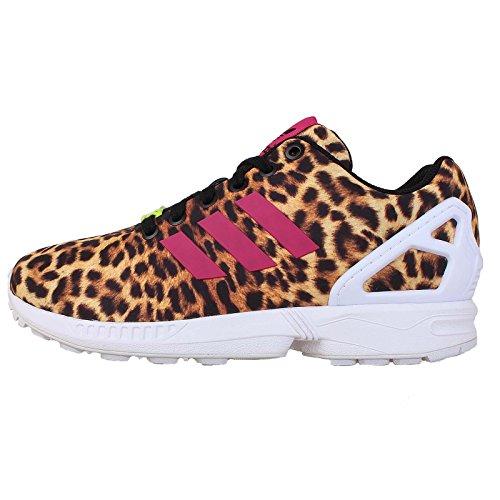 Adidas Kvinners Zx Fluks Leopard-black / Bibber / Hvit Fwsp0s