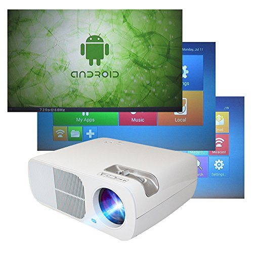 Rray 2600lumens HD WIFI Android 4.4 System Home Theater Projector LED Cinema Support HDMI VGA AV USB for Home Cinema Theater Child Games Top Deals