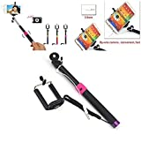 New Extendable Cable Take Pole (No need Bluetooth and Battery)Selfie Handheld Stick Monopod with Shutter Remote Control Shaft For for iPhone 6 4.7