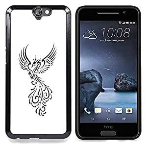 - Phoenix Fire Bird Decal Minimalist White - - Monedero pared Design Premium cuero del tir???¡¯???€????€??????????&fn
