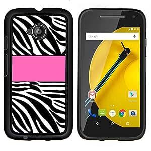 TECHCASE---Cubierta de la caja de protección para la piel dura ** Motorola Moto E ( 2nd Generation ) ** --Línea Modelo rosado Negro Blanco