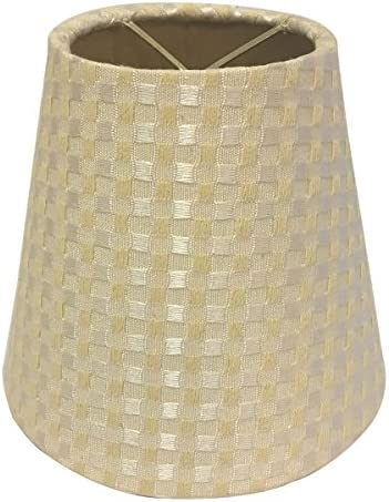 Royal Designs CS-950-6BC Hardback Empire Chandelier Lamp Shade, Beige Cream