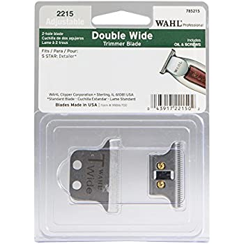 Wide Professional T-Wide Adjustable Trimmer Blade Set #2215 – For the 5 Star Series Detailer – Includes Oil, Screws & Instructions