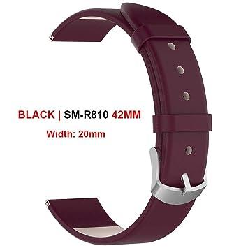 Eruditter Inteligente Reloj de Pulsera 20 mm 22 mm Cuero de ...