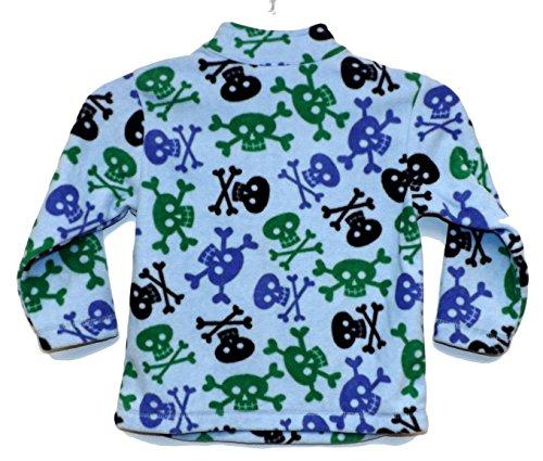 Skull Zip Fleece (Hanna Andersson Baby Boy Soft Fleece 1/4 Zip Shirt Skull Jacket (4T, Skull))