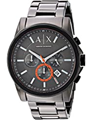 Armani Exchange Mens Quartz Stainless Steel Casual Watch, Color:Grey (Model: AX2514)