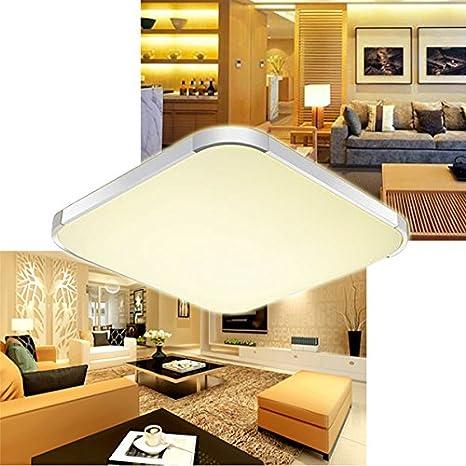 VINGO® 36W LED Moderno Lámpara De Techo Blanco Cálido LED plafón ...
