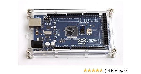Amazon com: GeauxRobot Arduino Mega Enclosure Case Box Clear