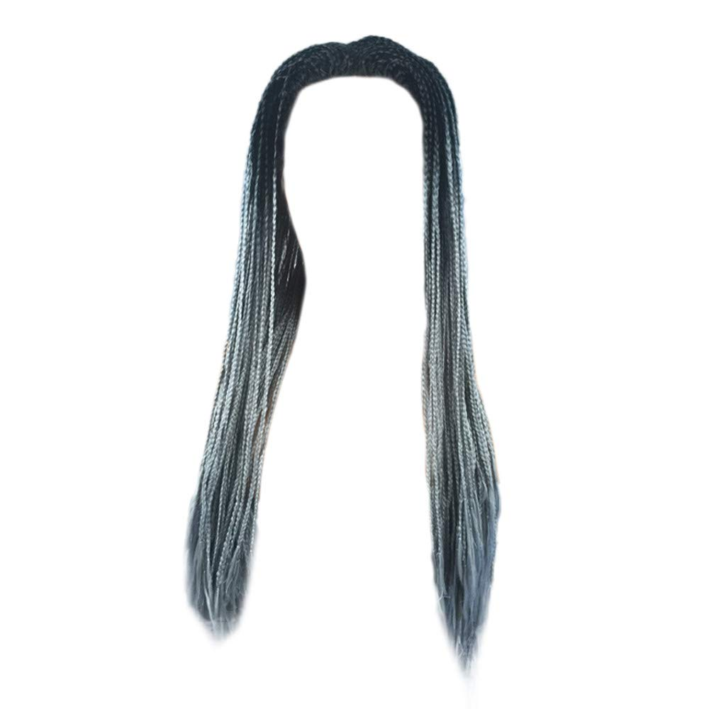 NRUTUP Women Synthetic Hair Braided Lace Front Wig Long Black Braid Wigs Clearance Hot Sales(A,Free Size) by NRUTUP (Image #1)