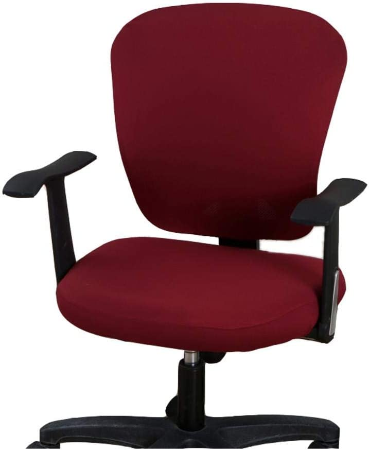 wonderfulwu Red Office Chair Cover, Universal Removable Washable Rotating Armchair Cover, Red