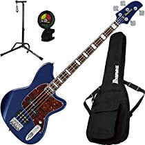 Ibanez TMB300NM Talman 4 String Navy Metallic Electric Bass w/ Gig Bag, Stand, and Tuner