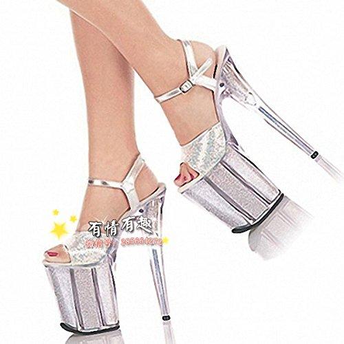 20 cm high heels sandaletten roten kristall hochzeit schuhe cross - dressing schuhe, weil schuhe bunte