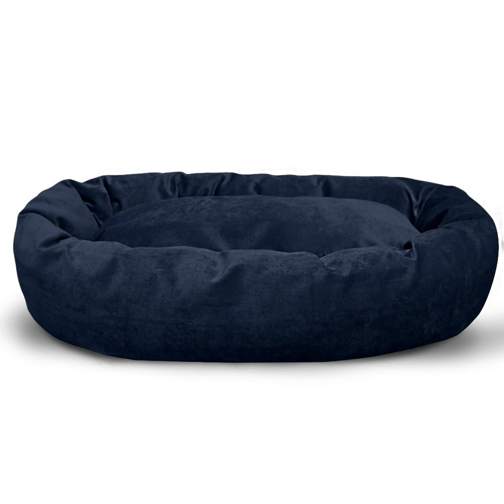 Majestic Pet Personalized Bagel Dog Bed - Machine Washable - Soft Comfortable Sleeping Mat - Durable Supportive Cushion Custom Embroidered - available replacement covers - Small Navy Blue by Majestic Pet (Image #2)