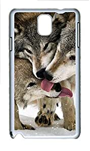 Samsung Galaxy Note 3 N9000 Cases & Covers - Wolves 3 PC Custom Soft Case Cover Protector for Samsung Galaxy Note 3 N9000 - White