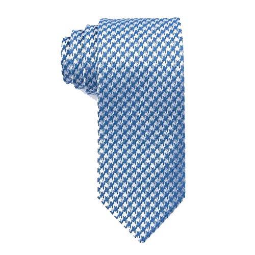 Sean John Men's Houndstooth Slim Tie (Blue, One Size)