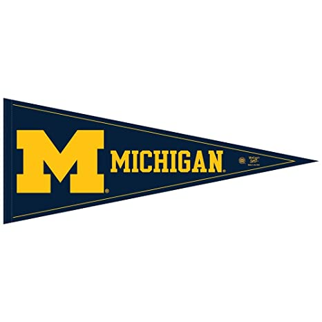 sports shoes 444c6 a34c8 Amazon.com   WinCraft NCAA Michigan Wolverines 12x30 Classic Pennant, Team  Colors, One Size   Sports Related Pennants   Sports   Outdoors