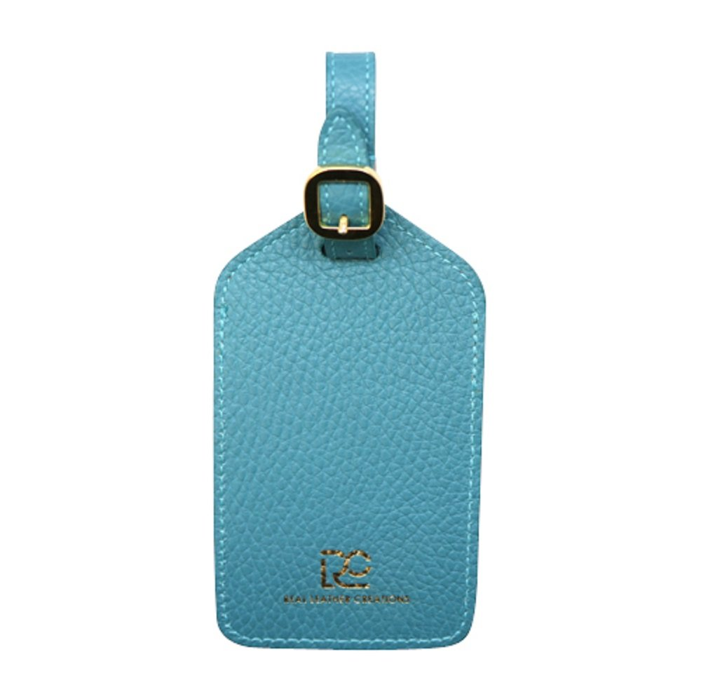 Teal Colorado Collection Genuine Leather Travel Luggage Tags – Made in USA by Real Leather Creations - Factory Direct Gift Box FBA670 by Real Leather Creations (Image #3)