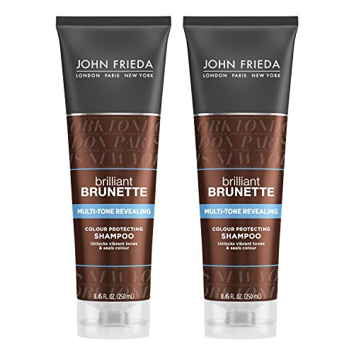 John Frieda Brilliant Brunette Multi-Tone Revealing Moisturizing Shampoo, 8.45 Ounce (Pack of 2)