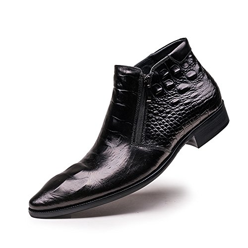 2a197ff123a cheap Santimon Men s Genuine Crocodile Leather Zipper Ankle Boots ...