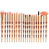 CINIDY Makeup Brushes Set 11pcs 3D Mermaid Makeup Brush Cosmetic Brushes Eyeshadow Eyeliner Blush Brushes