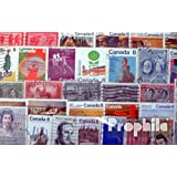 Canada 200 Different Stamps (Stamps for Collectors)