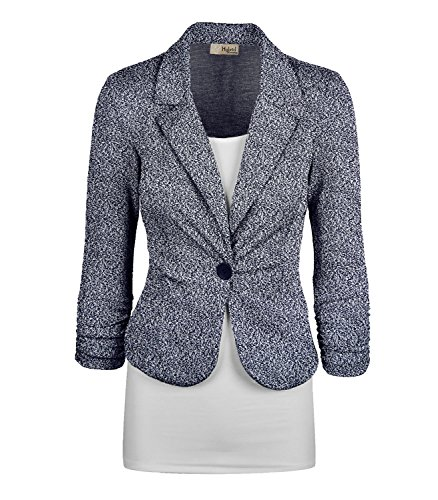 Women's Casual Work Office Blazer Jacket JK1131 8294 Navy Medium