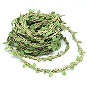 Yotako 10m Silk Greenery Garland Faux Foliage Fake Leaves Hanging Vines Garland Artificial Plants for DIY Wreath Wedding Craft Home Decor 116