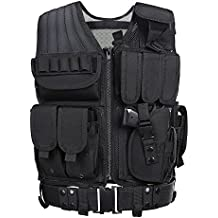 GZ XINXING Tactical Airsoft Paintball Combat Military Swat Assault Army Shooting Hunting Outdoor Molle Police Vest With Pistol Holster