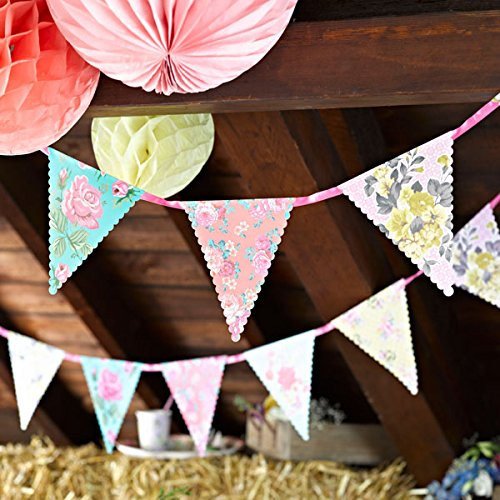 Talking Tables Truly Scrumptious Floral Banner for a Tea Party, Multicolor