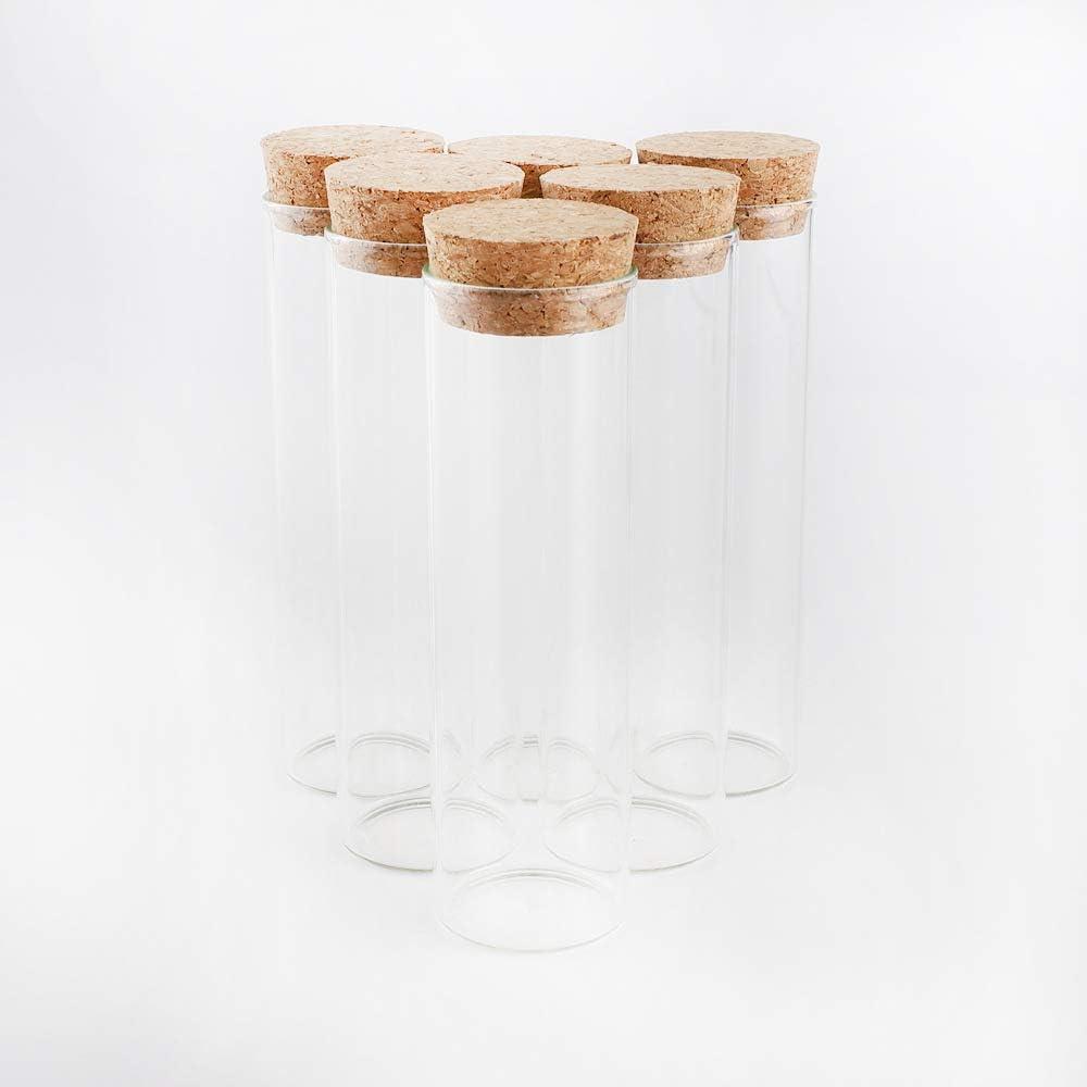 JIUYUE Glass Jars with Corks Wide-Mouth Bottles Jar Storage Bottles for Sand Liquid Food Bottles.(1.69 Oz,10 Pcs)