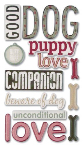 (Sticko Phrase Cafe Epoxy Stickers, Dog by EKS)