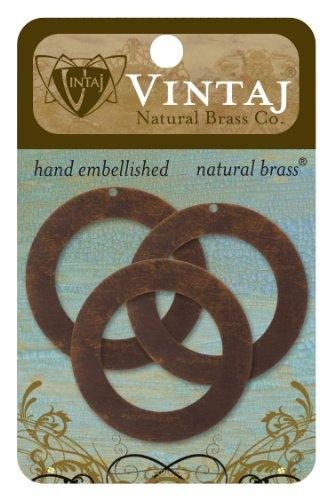 Vintaj 3-Piece Circle Frame Jewelry Blanks, 34mm