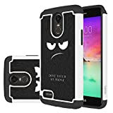LG Stylo 3 Case,LG Stylo 3 Plus Case,LEEGU [Shock Absorption] Dual Layer Heavy Duty Protective Silicone Plastic Cover Case for LG Stylus 3 - Don't Touch My Phone