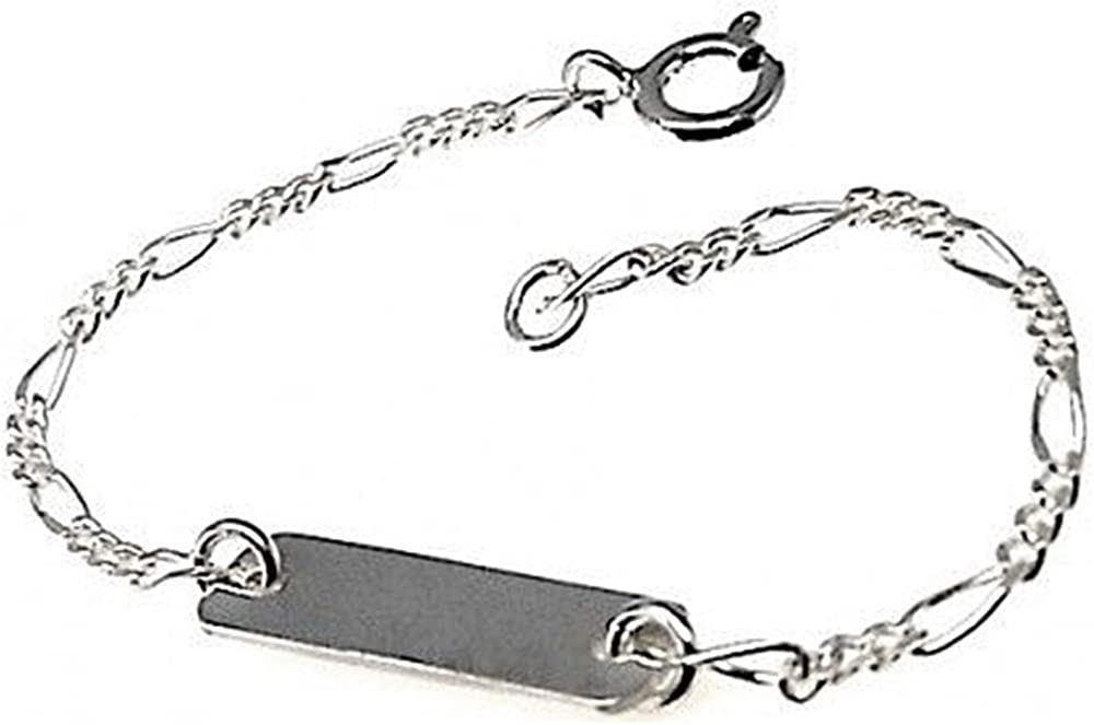 Esclava plata Ley 925m bebé cadena modelo alternada 3x1 [AB4413]